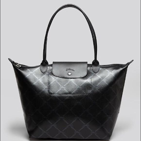 Longchamp Handbags - Longchamp LM Metal Tote with Logo print 81410eebc46b1